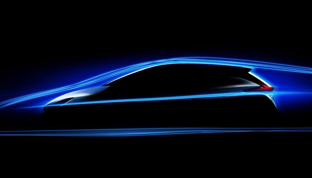 2018 Nissan Leaf Teaser 1024x585 - Nissan Tease the New Leaf - Nissan Tease the New Leaf
