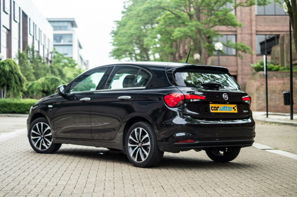 Fiat Tipo Review Rear Angle carwitter 1024x681 - Fiat Tipo Hatchback Review - Fiat Tipo Hatchback Review