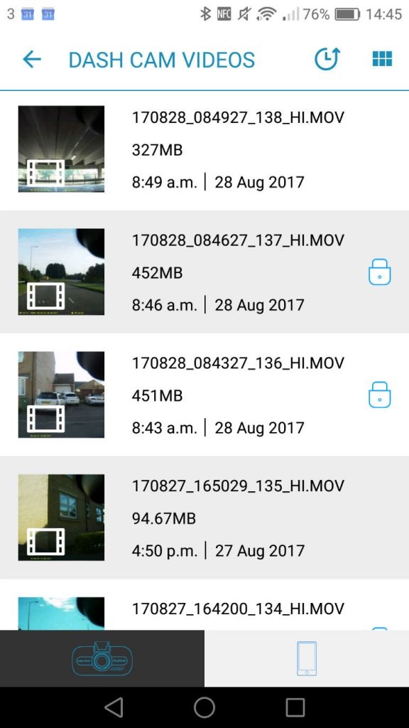 Nextbase Cam Viewer App Screenshot carwitter 576x1024 - Nextbase 512GW Dash Cam Review - Nextbase 512GW Dash Cam Review