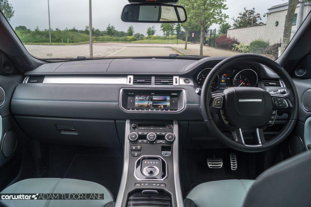 2017 Range Rover Evoque Convertible Review Dashboard carwitter 1024x681 - Range Rover Evoque Convertible Review - Range Rover Evoque Convertible Review