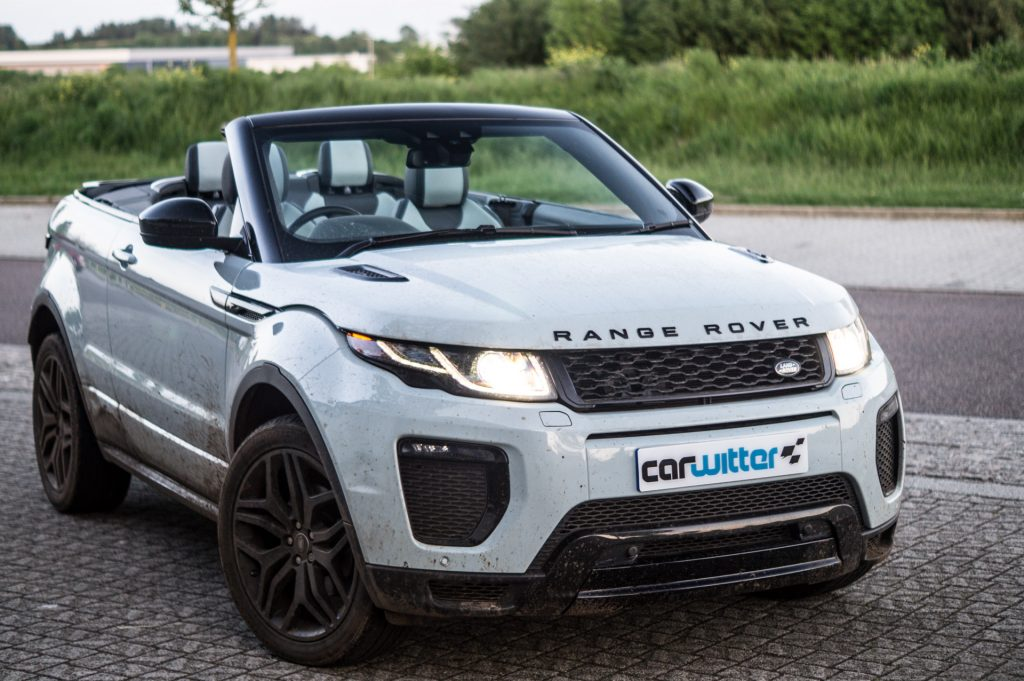 2017 Range Rover Evoque Convertible Review Front Angle carwitter 1024x681 - Range Rover Evoque Convertible Review - Range Rover Evoque Convertible Review