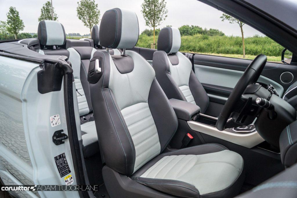 2017 Range Rover Evoque Convertible Review Front Seats carwitter 1024x681 - Range Rover Evoque Convertible Review - Range Rover Evoque Convertible Review
