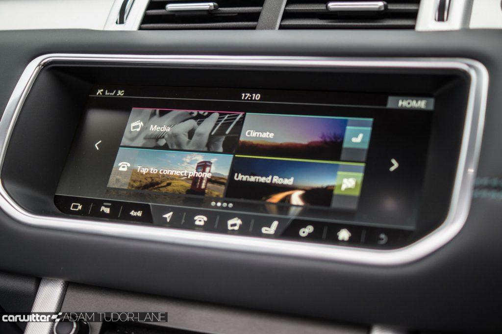 2017 Range Rover Evoque Convertible Review Infotainment carwitter 1024x681 - Range Rover Evoque Convertible Review - Range Rover Evoque Convertible Review