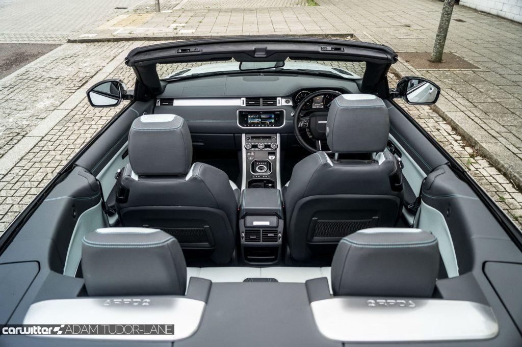 2017 Range Rover Evoque Convertible Review Interior Seating carwitter 1024x681 - Range Rover Evoque Convertible Review - Range Rover Evoque Convertible Review