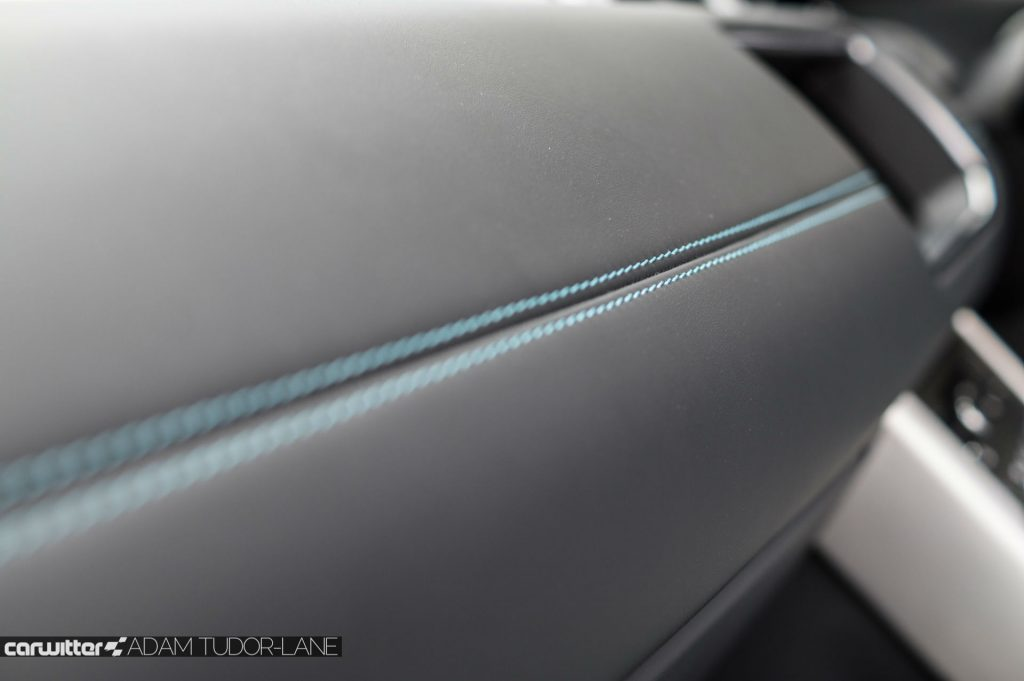 2017 Range Rover Evoque Convertible Review Interior Stitching carwitter 1024x681 - Range Rover Evoque Convertible Review - Range Rover Evoque Convertible Review