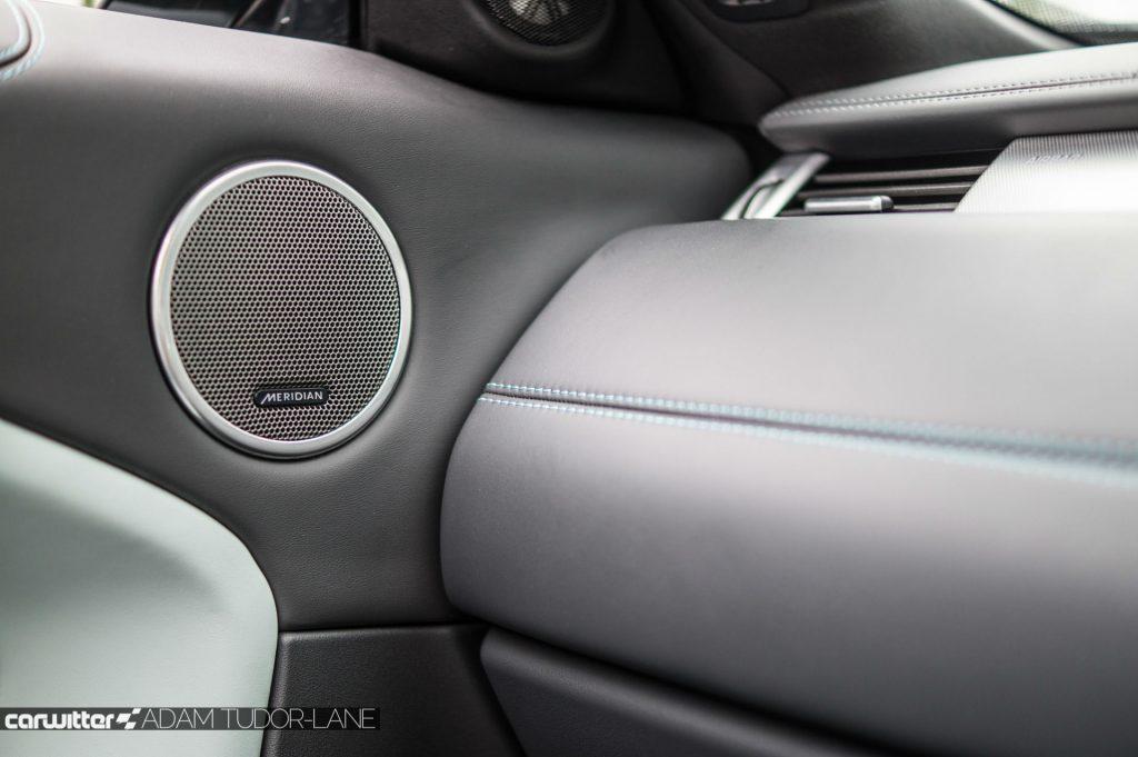 2017 Range Rover Evoque Convertible Review Meridian Stereo carwitter 1024x681 - Range Rover Evoque Convertible Review - Range Rover Evoque Convertible Review