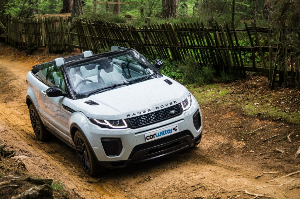 2017 Range Rover Evoque Convertible Review Off Road Front Angle carwitter 1024x681 - Range Rover Evoque Convertible Review - Range Rover Evoque Convertible Review