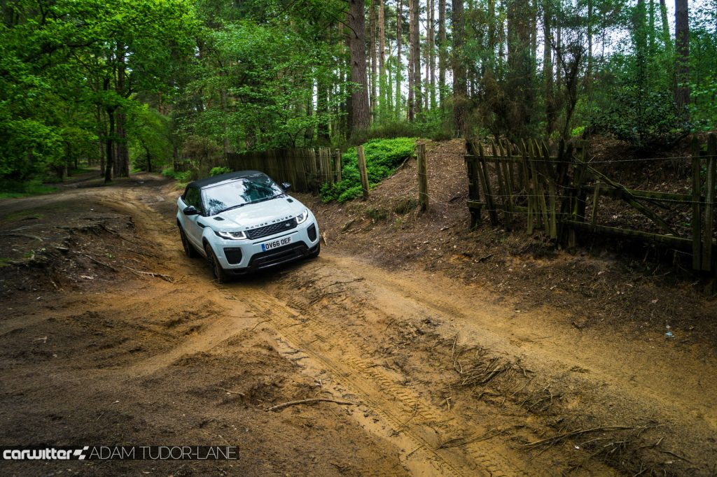 2017 Range Rover Evoque Convertible Review Off Road Roof Up carwitter 1024x682 - Range Rover Evoque Convertible Review - Range Rover Evoque Convertible Review