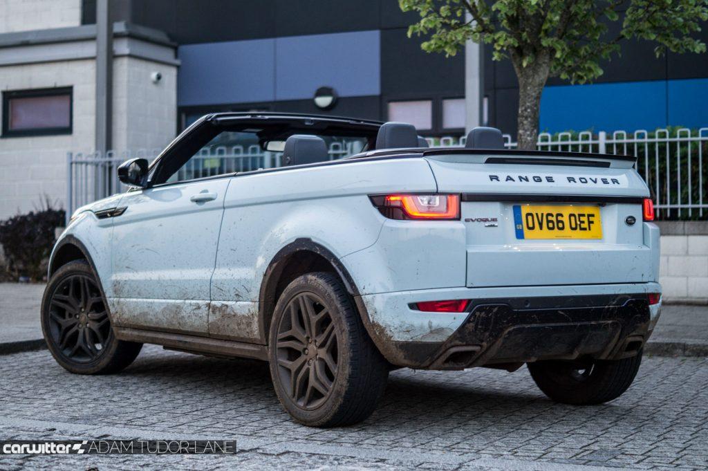 2017 Range Rover Evoque Convertible Review Rear Angle carwitter 1024x681 - Range Rover Evoque Convertible Review - Range Rover Evoque Convertible Review