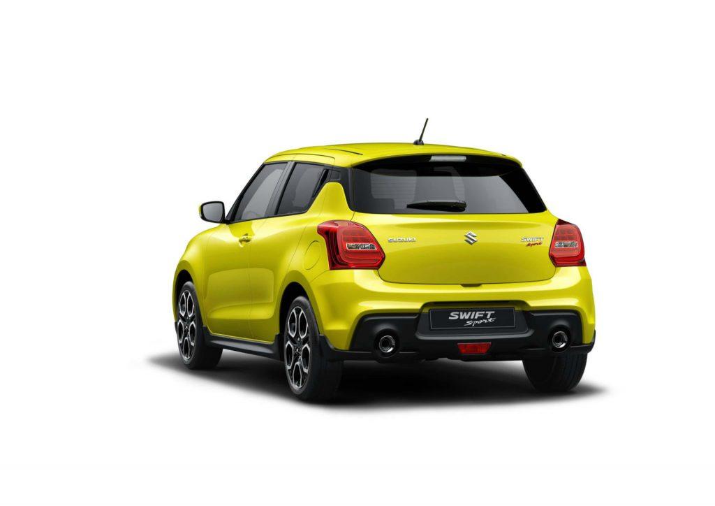 2017 Suzuki Swift Sport Rear Yellow carwitter 1024x724 - Superlight Swift Sport is on the way - Superlight Swift Sport is on the way