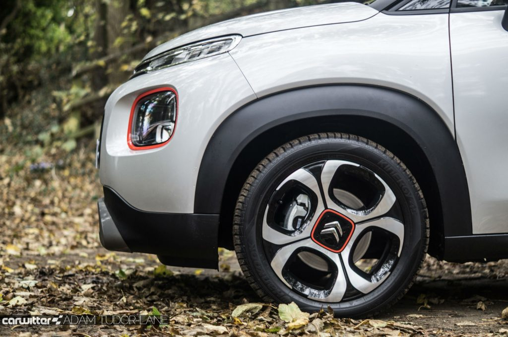 2017 Citroen C3 Aircross SUV Review Front Detail Wheel carwitter 1024x681 - Citroen C3 Aircross Review - Citroen C3 Aircross Review