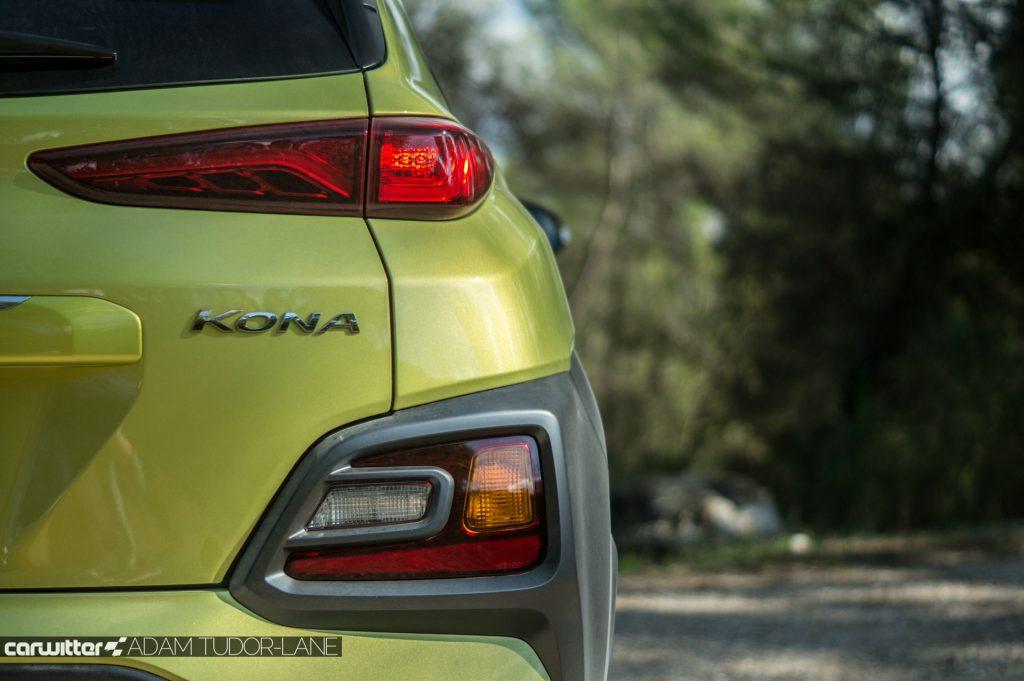 2017 Hyundai Kona SUV Review Rear Badge Detail carwitter 1024x681 - Hyundai Kona Review - Hyundai Kona Review
