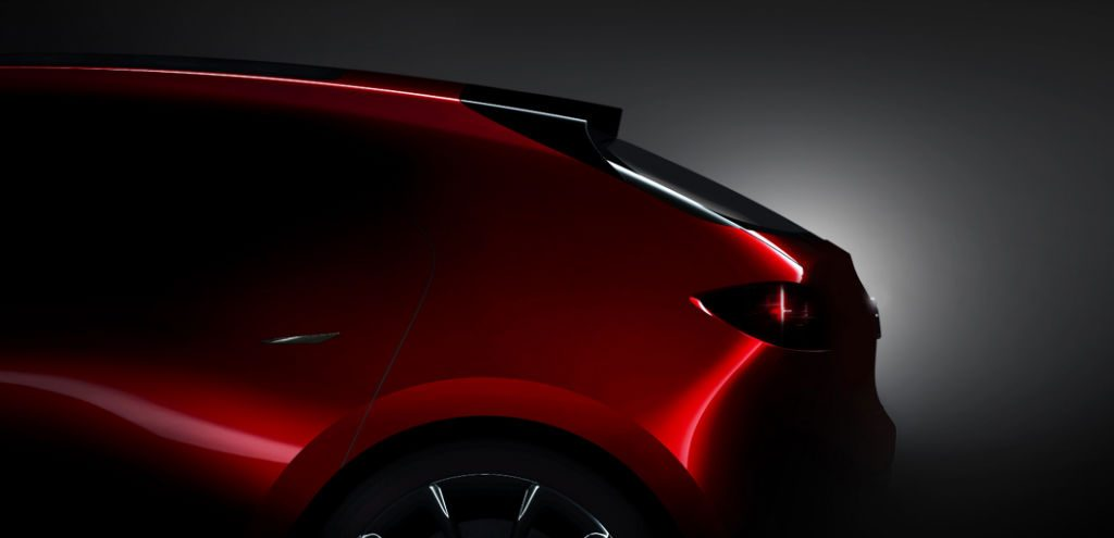 Mazda Compact Hatchback Concept Teaser 1024x495 - Mazda to Debut Two Concepts at Tokyo Motor Show - Mazda to Debut Two Concepts at Tokyo Motor Show