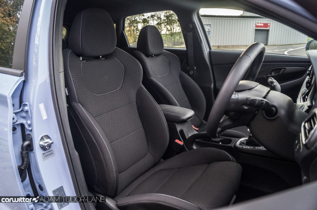 2018 Hyundai i30N Performance Pack Review Front Fabric Seats carwitter 1024x681 - Hyundai i30N Performance Pack Review - Hyundai i30N Performance Pack Review
