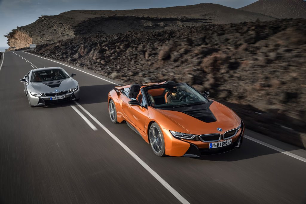 BMW i8 Coupe and Roadster 1024x683 - BMW Reveal i8 Roadster along with Updated Coupe - BMW Reveal i8 Roadster along with Updated Coupe