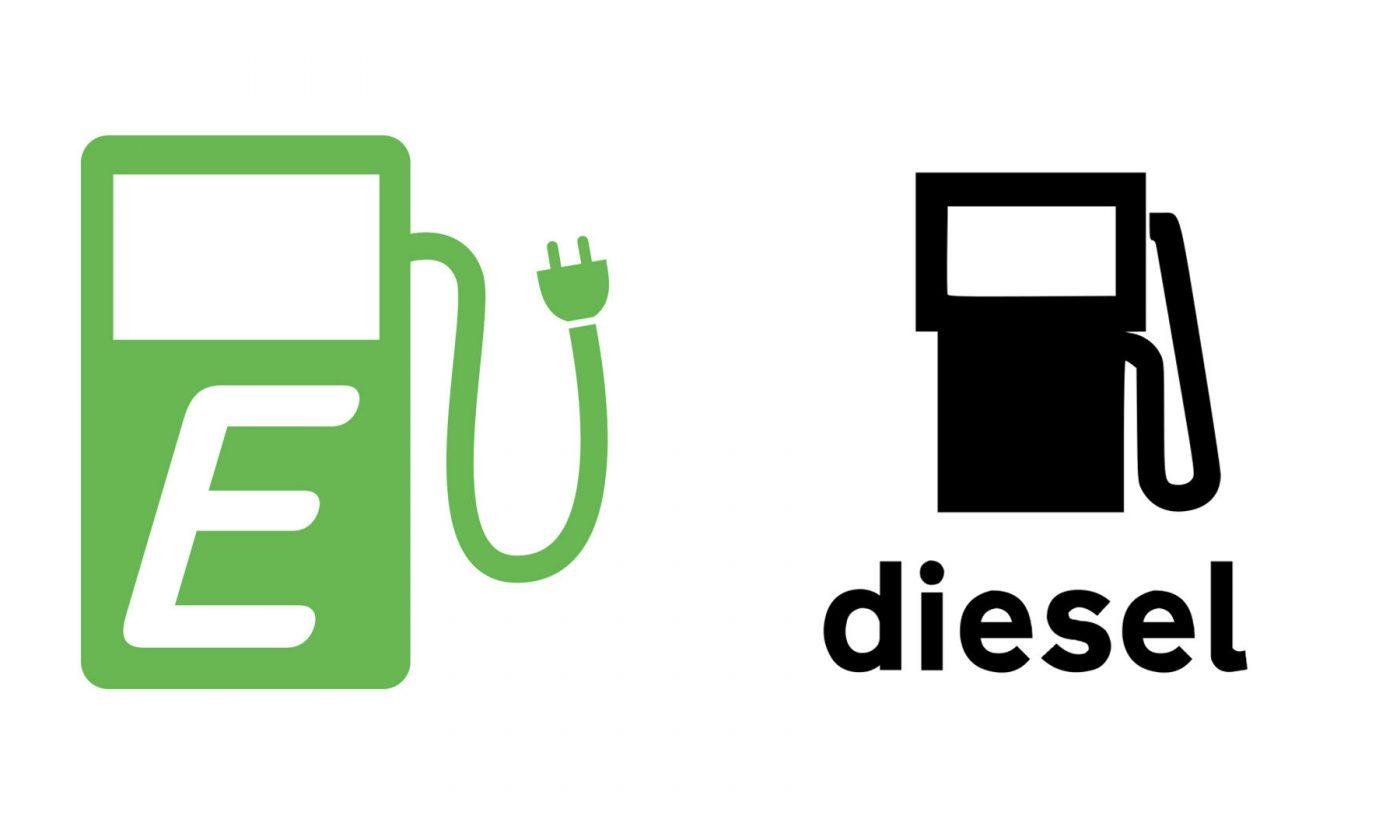 Electric vs Diesel 1400x840 - Electric Vehicles vs Diesel in 2017 - Electric Vehicles vs Diesel in 2017