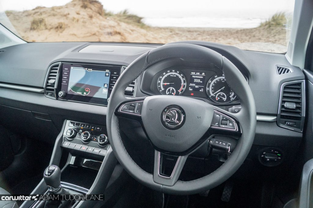 2018 Skoda Karoq 4x4 Review Steering Wheel carwitter 1024x681 - Skoda Karoq 4x4 Review - Skoda Karoq 4x4 Review