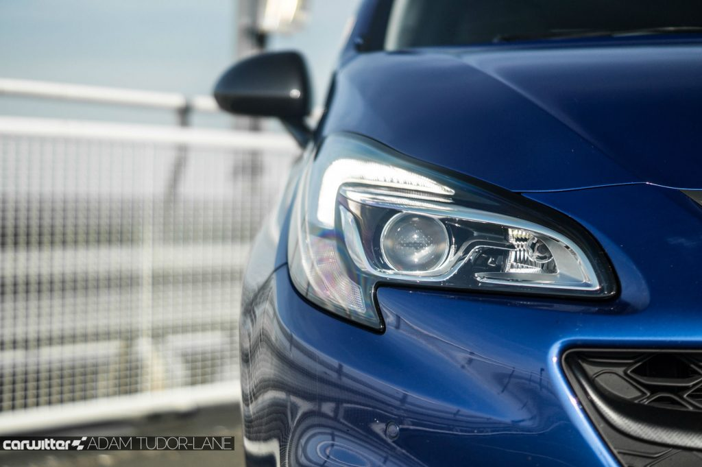 2018 Vauxhall Corsa VXR Performance Pack Review Headlight Detail carwitter 1024x681 - 2018 Vauxhall Corsa VXR 'Perfomance Pack' Review - 2018 Vauxhall Corsa VXR 'Perfomance Pack' Review