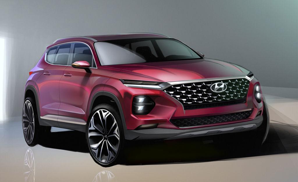 Hyundai 2018 Santa Fe Rendering Front - Hyundai Release Renderings of New Santa Fe - Hyundai Release Renderings of New Santa Fe