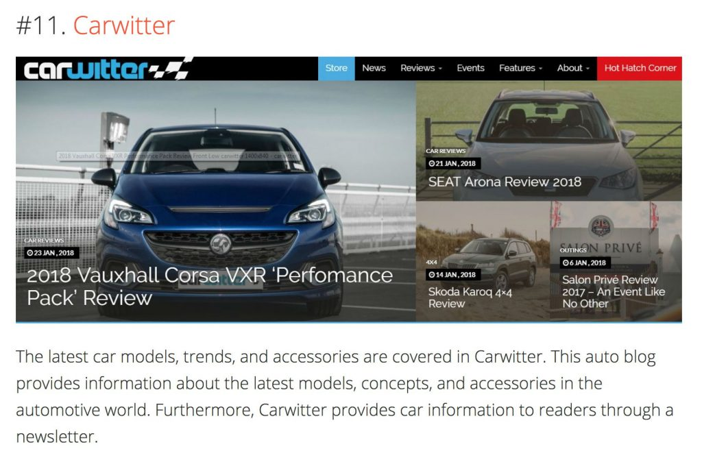 OBDAdvisor Top Auto Blogs 2018 carwitter 1024x671 - Press - Press