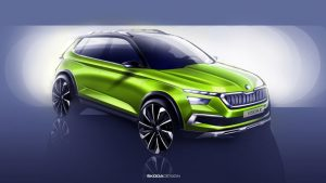 Skoda Vision X Sketch 1 300x169 - Skoda Vision X Concept to Debut at Geneva - Skoda Vision X Concept to Debut at Geneva