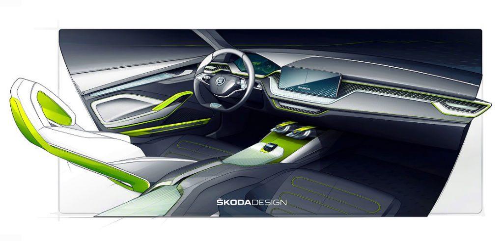 Skoda Vision X Sketch 3 1024x491 - Skoda Vision X Concept to Debut at Geneva - Skoda Vision X Concept to Debut at Geneva