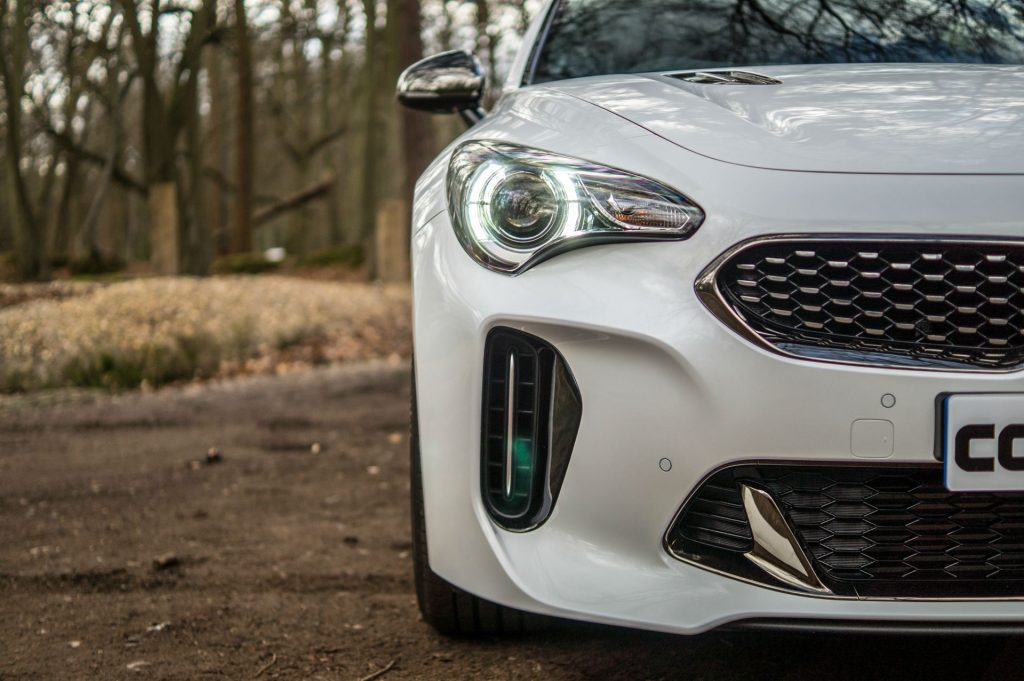 2018 Kia Stinger 2.0 T GDI Review Headlight Detail carwitter 1024x681 - Kia Stinger 2.0 litre turbo Review - Kia Stinger 2.0 litre turbo Review