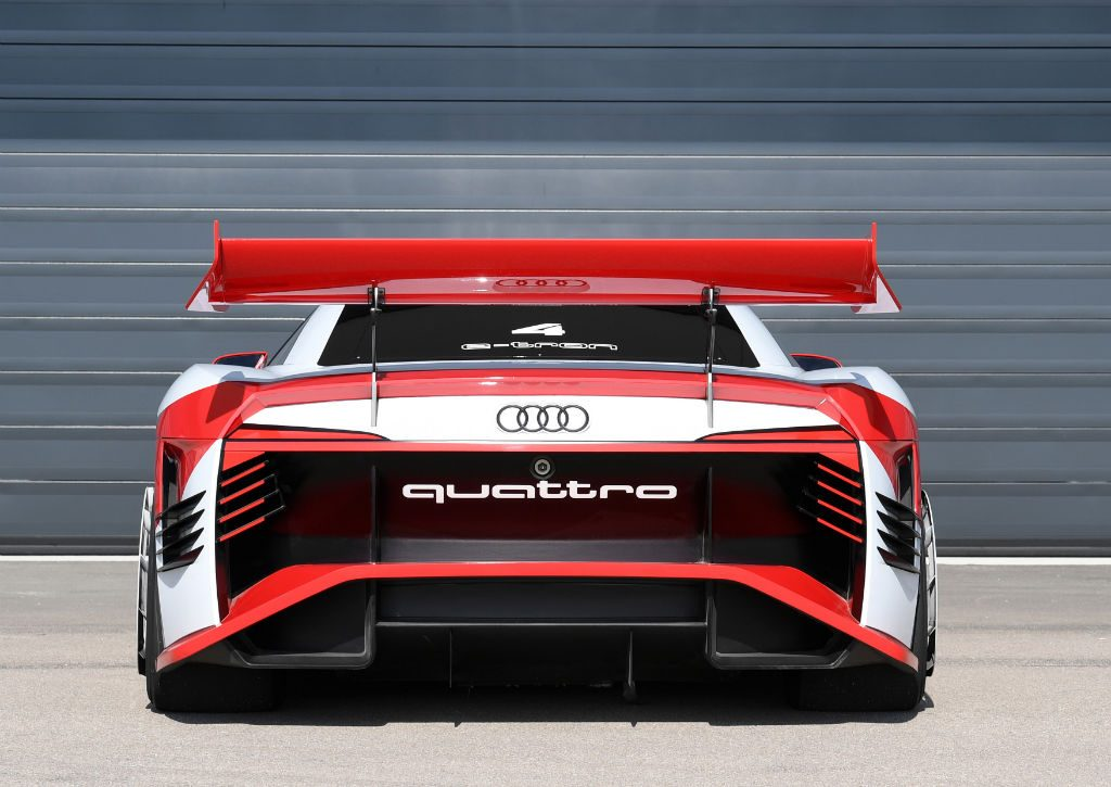 Audi e tron Vision Gran Turismo Concept Back 1024x725 - Audi e-tron Vision Gran Turismo is becoming reality - Audi e-tron Vision Gran Turismo is becoming reality