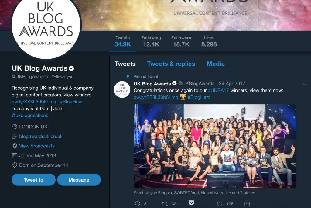 Pinned Tweet UK Blog Awards carwitter 1024x684 - We Won...again?! UK Blog Awards 2018 - We Won...again?! UK Blog Awards 2018