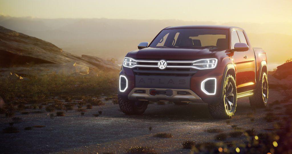 Volkswagen Altas Tanoak Concept Front 1024x540 - Volkswagen Debut Atlas Cross Sport and Atlas Tanoak Concepts - Volkswagen Debut Atlas Cross Sport and Atlas Tanoak Concepts