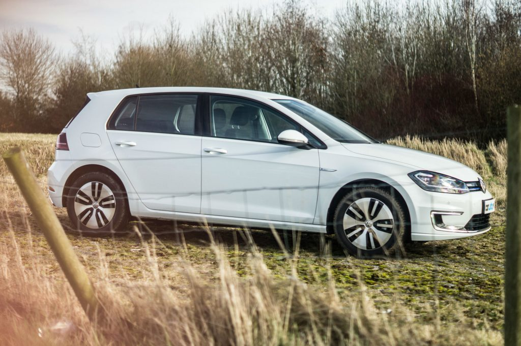2018 VW eGolf Review Side carwitter 1024x681 - Trying to drive 100 miles in an EV in 2018 - Trying to drive 100 miles in an EV in 2018