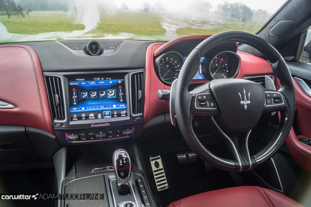 Maserati Levante S Review Steering Wheel Dash carwitter 1024x681 - Maserati Levante S Review - Maserati Levante S Review