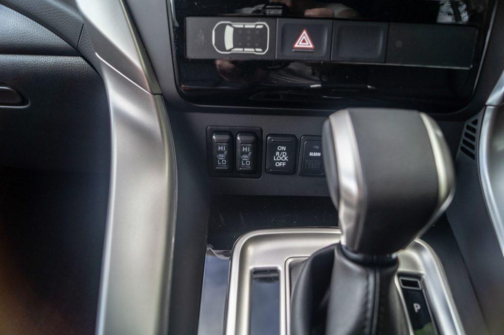 2018 Mitsubishi Shogun Sport Review Heated Seat Switches carwitter 1024x681 - Mitsubishi Shogun Sport Review - Mitsubishi Shogun Sport Review
