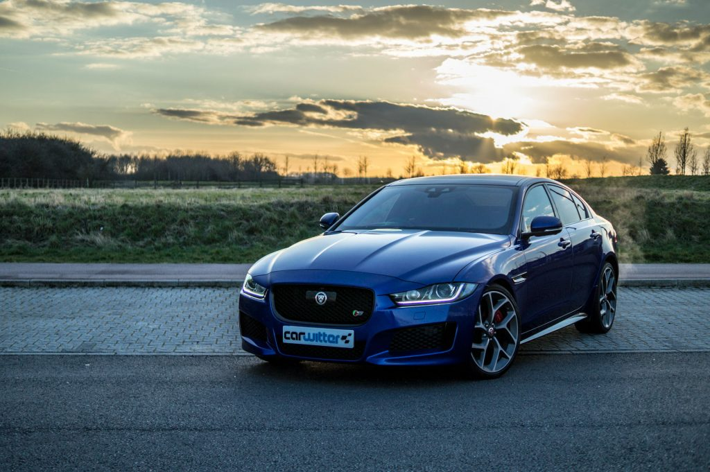 2018 Jaguar XE S Review Front Sunset carwitter 1024x681 - 2018 Jaguar XE S Review - 2018 Jaguar XE S Review