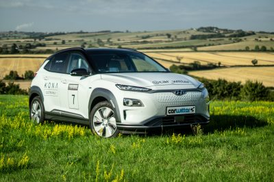 2018 Hyundai Kona Electric 64 KWh Review Close Angle carwitter 400x266 - Hyundai Kona Electric 64 kWh Review - Hyundai Kona Electric 64 kWh Review