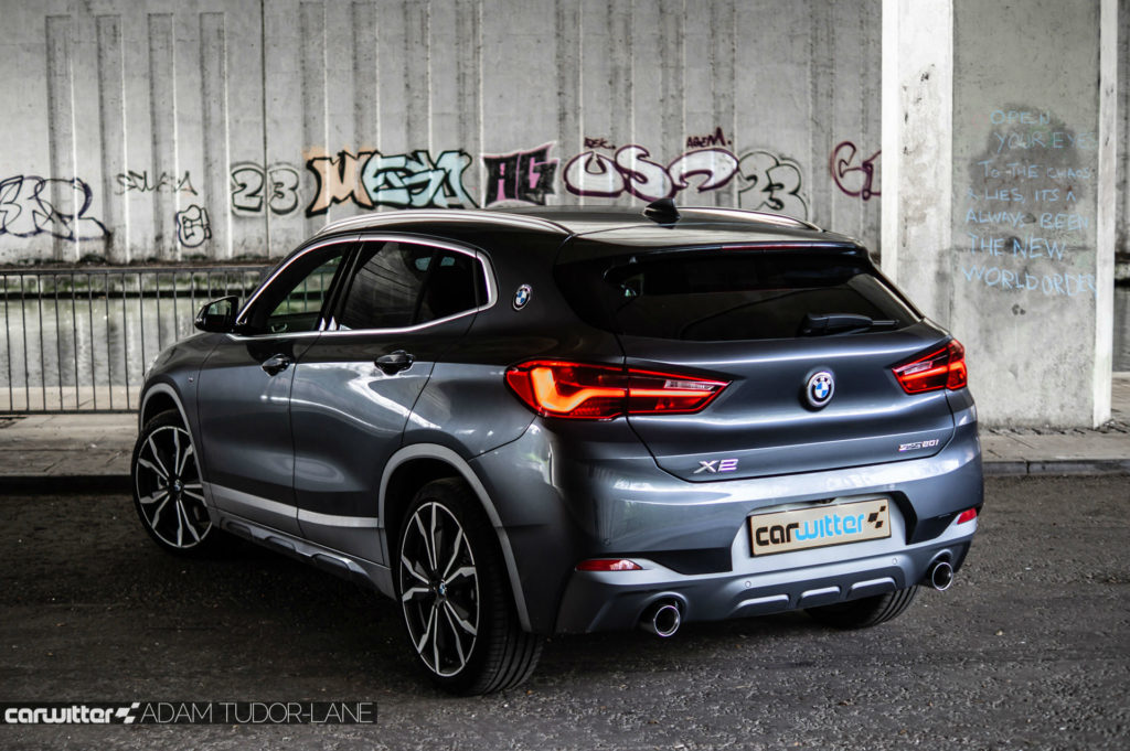 2018 BMW X2 M Sport X Review Rear Angle Close carwitter 1024x681 - BMW X2 M Sport X Review - BMW X2 M Sport X Review