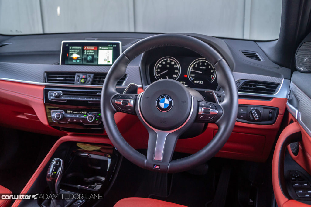 2018 BMW X2 M Sport X Review Steering Wheel carwitter 1024x681 - BMW X2 M Sport X Review - BMW X2 M Sport X Review
