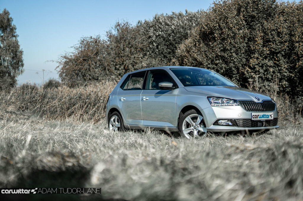 2018 Facelift Skoda Fabia Review Front Low Angle carwitter 1024x681 - Skoda Fabia 2018 Review - Skoda Fabia 2018 Review