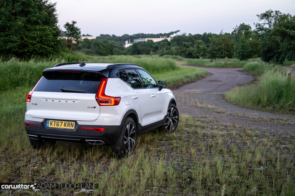 2018 Volvo XC40 First Edition Review Rear Angle Opp carwitter 1024x681 - Volvo XC40 Review - Volvo XC40 Review