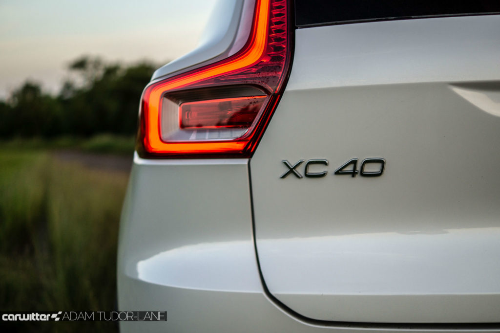 2018 Volvo XC40 First Edition Review XC40 Rear Badge carwitter 1024x681 - Volvo XC40 Review - Volvo XC40 Review