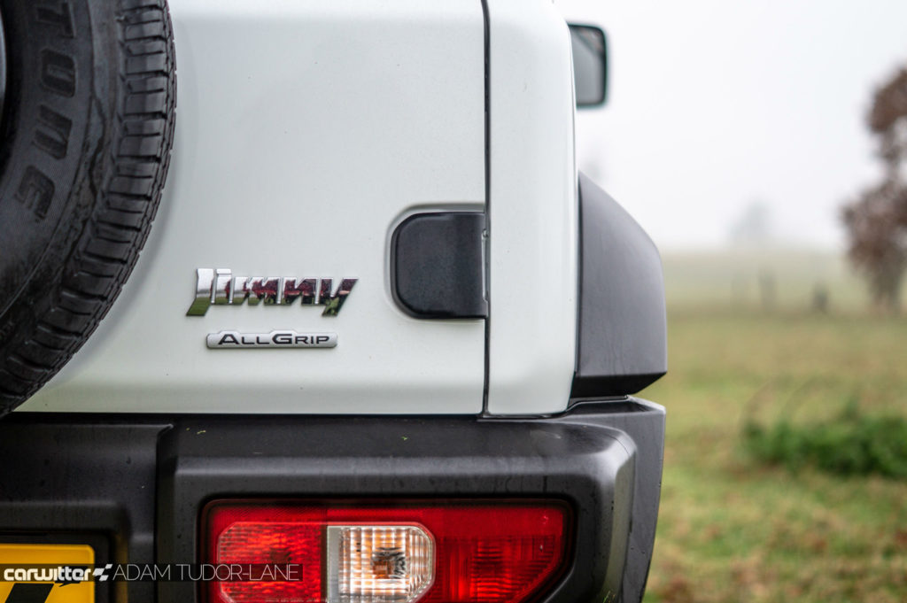 2018 Suzuki Jimny Review Rear Badge carwitter 1024x681 - 2018 New Suzuki Jimny Review - 2018 New Suzuki Jimny Review