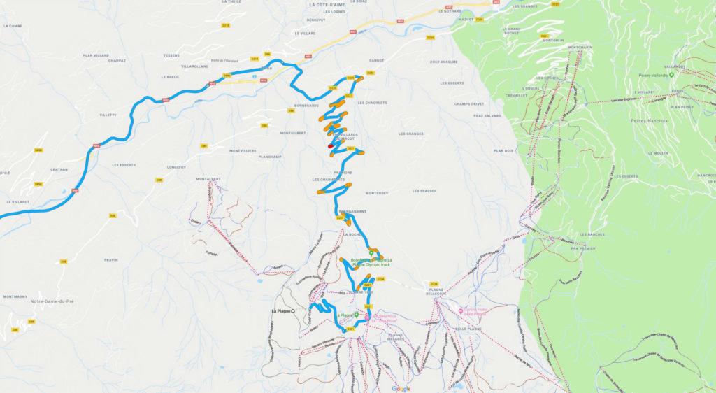 Route To La Plagne carwitter 1024x562 - Taking a Jaguar XF Sportbrake to the Alps - Taking a Jaguar XF Sportbrake to the Alps
