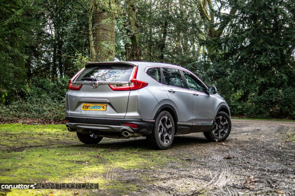 2019 Honda CR V Review Rear Angle Low carwitter 1024x681 - 2019 Honda CR-V Hybrid Review - 2019 Honda CR-V Hybrid Review