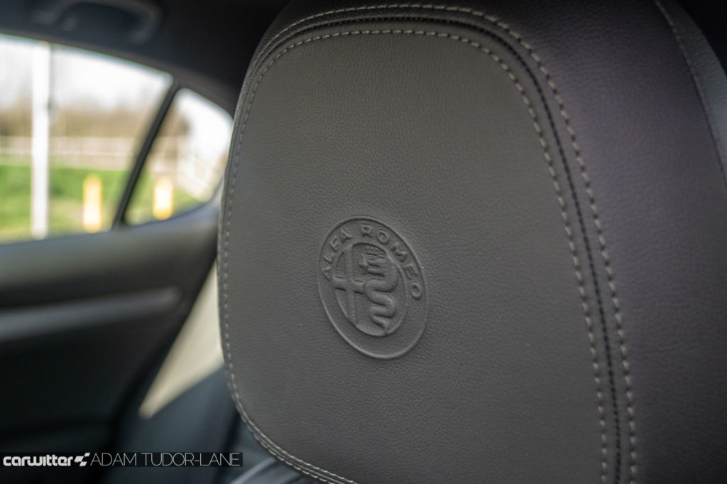 Alfa Romeo Stelvio Speciale Review Headrest Detail carwitter 1024x681 - Alfa Romeo Stelvio Speciale Review - Alfa Romeo Stelvio Speciale Review