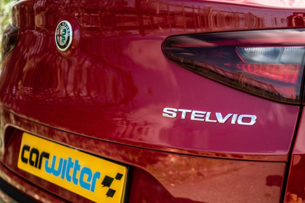 Alfa Romeo Stelvio Speciale Review Rear Stelvio Badge carwitter 1024x681 - Alfa Romeo Stelvio Speciale Review - Alfa Romeo Stelvio Speciale Review