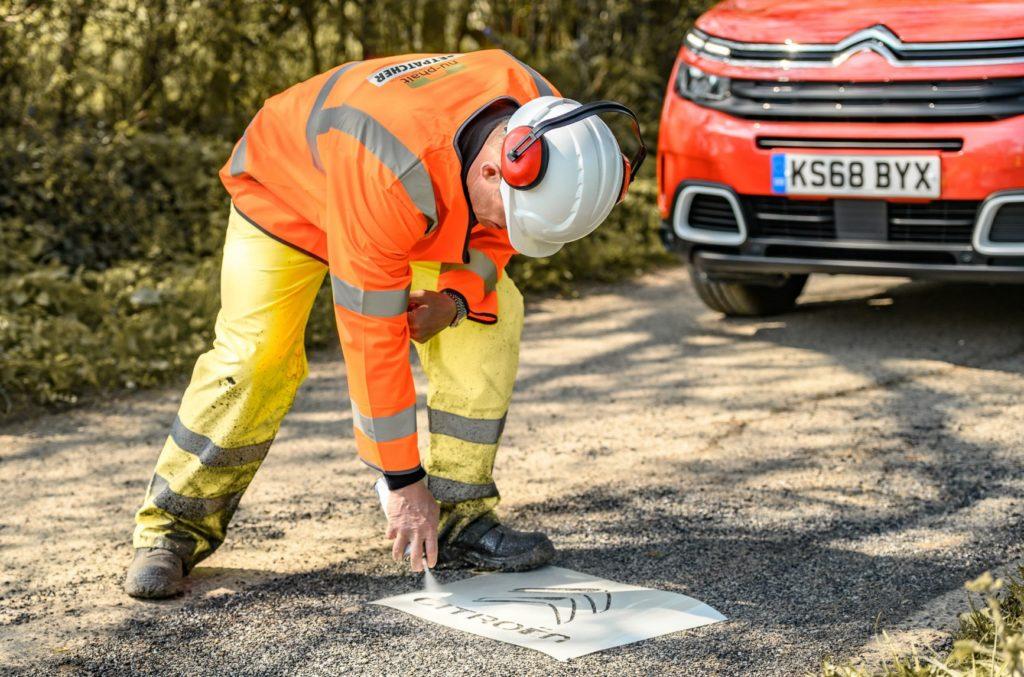 Citroen Patch UK Potholes 005 1024x677 - Citroen helps smooth over UK potholes amid record figures - Citroen helps smooth over UK potholes amid record figures