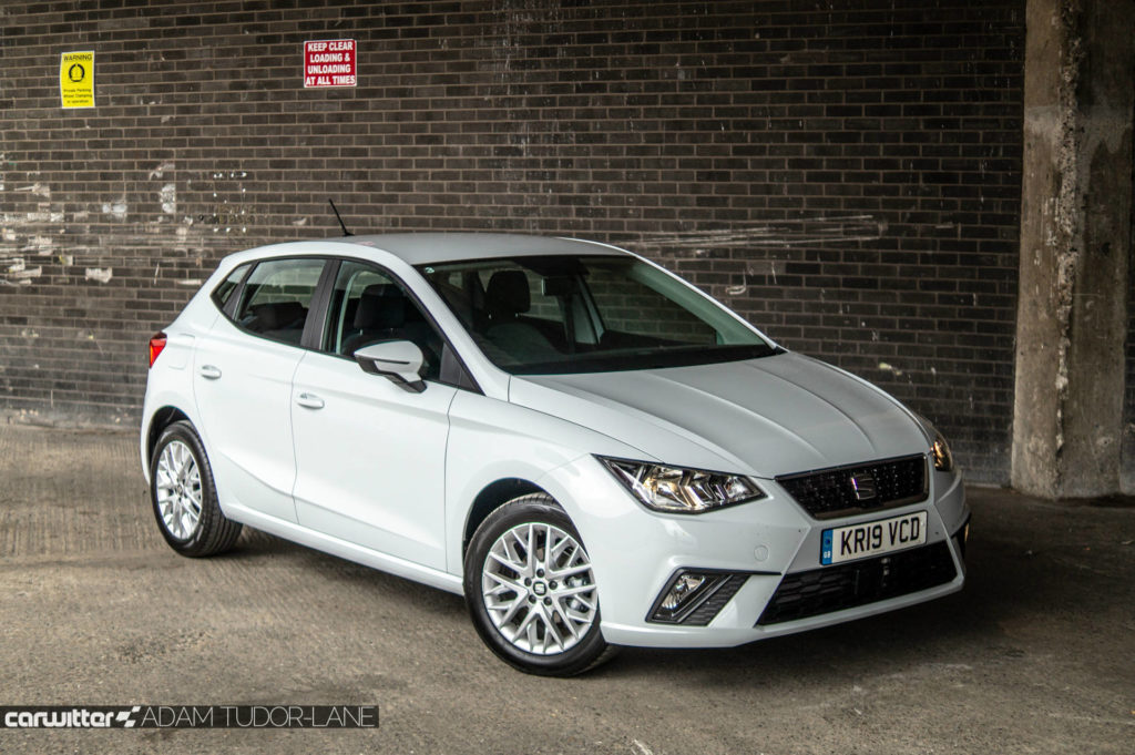 SEAT Ibiza 1.0 SE Tech Review Front Angle Close carwitter 1024x681 - SEAT Ibiza 1.0 litre SE Technology Review - SEAT Ibiza 1.0 litre SE Technology Review