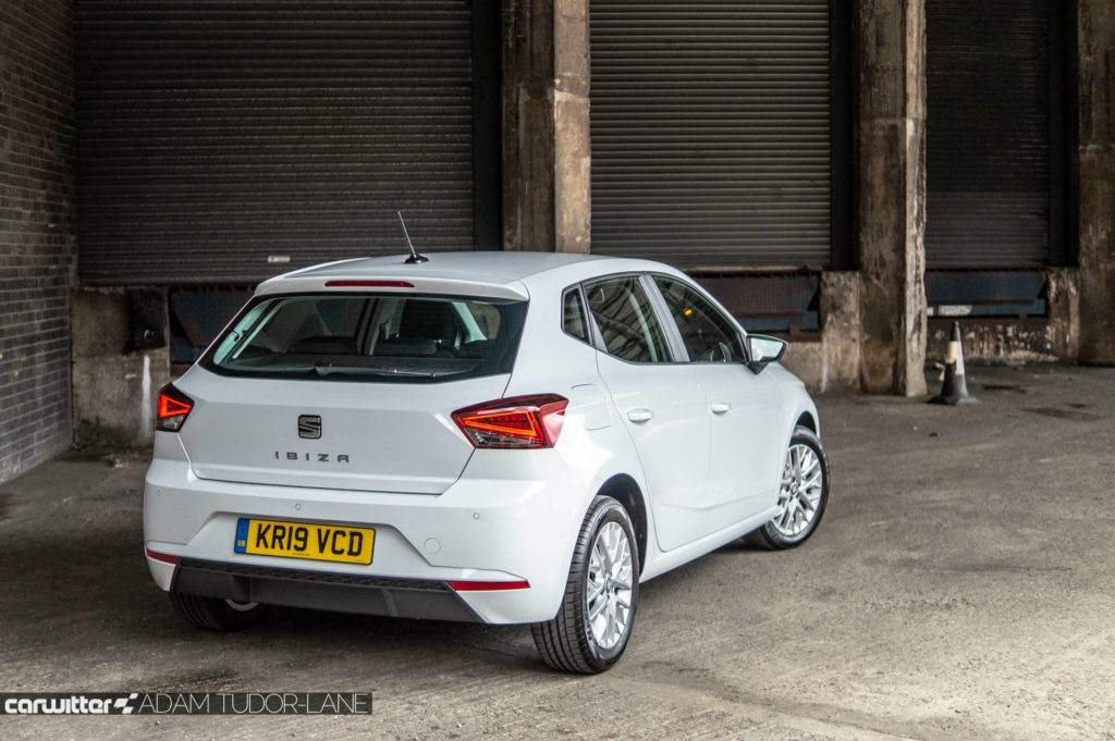 SEAT Ibiza 1.0 SE Tech Review Rear Angle Close carwitter 1024x681 - SEAT Ibiza 1.0 litre SE Technology Review - SEAT Ibiza 1.0 litre SE Technology Review