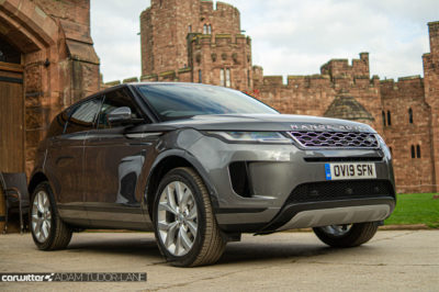 2019 Range Rover Evoque Review Front Angle Close carwitter 400x266 - 2019 Range Rover Evoque Review - 2019 Range Rover Evoque Review