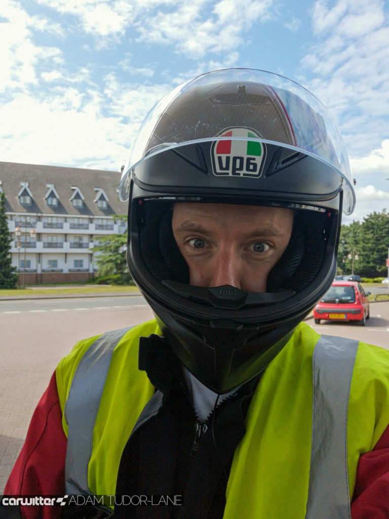Taking your CBT Honda School Of Motorcycling AGV K3 SV carwitter 768x1024 - Taking my CBT with Honda School Of Motorcycling - Taking my CBT with Honda School Of Motorcycling
